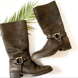 Salvatore Ferragamo   tall buckle boots